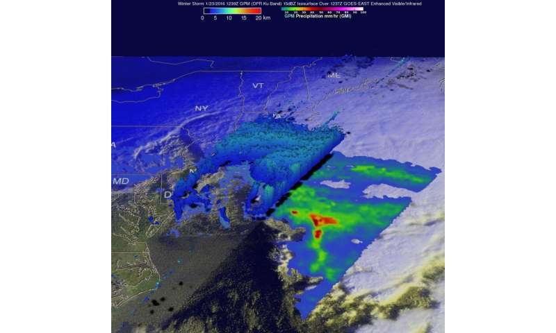 NASA sees dawn and records breaking as major winter storm departs