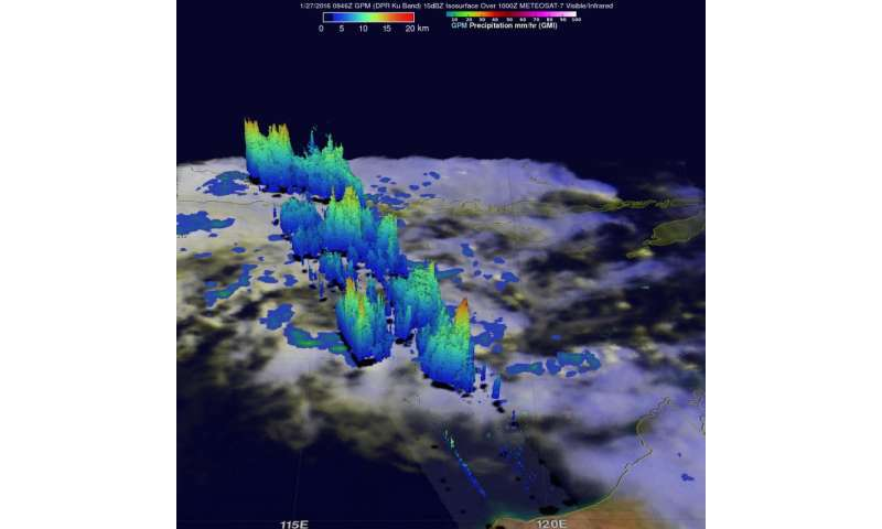 NASA Sees developing depression threatening northwestern Australia