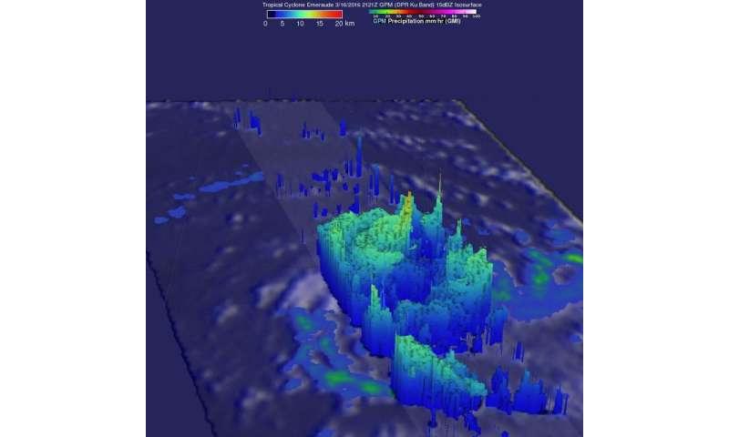 NASA sees heavy rain in Tropical Cyclone Emeraude