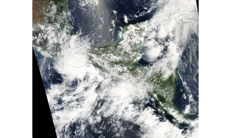 NASA sees slow-moving Tropical Depression 1E over Southern Mexico