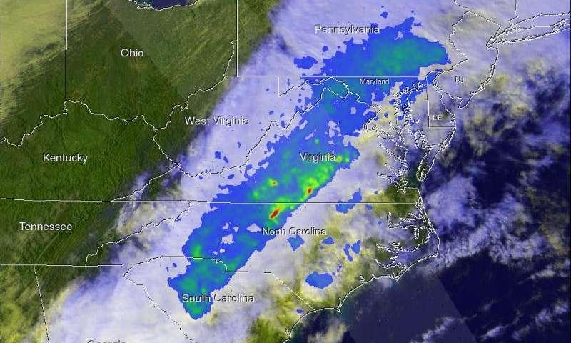 NASA's GPM satellite examines violent thunderstorms