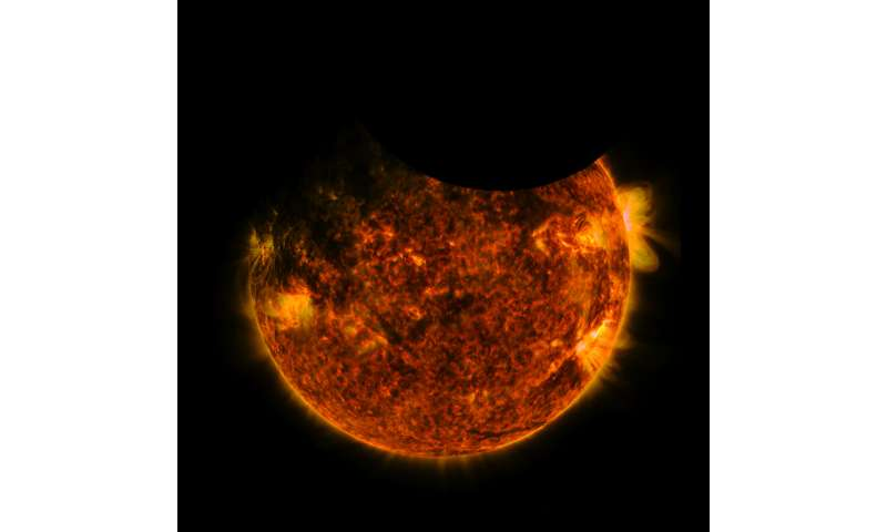 NASA's SDO witnesses a double eclipse