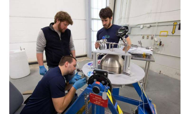 NASA team demonstrates loading of Swedish 'green' propellant