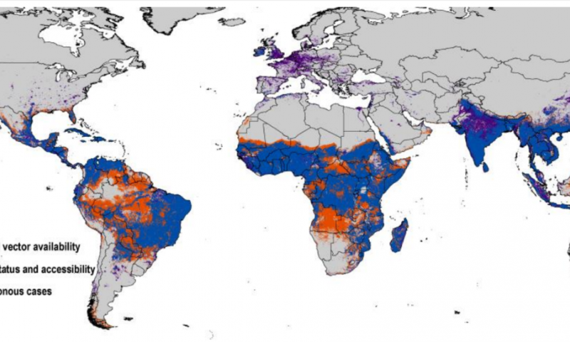 New Map Details Threat Of Zika Across Europe Us - Map-of-europe-and-us