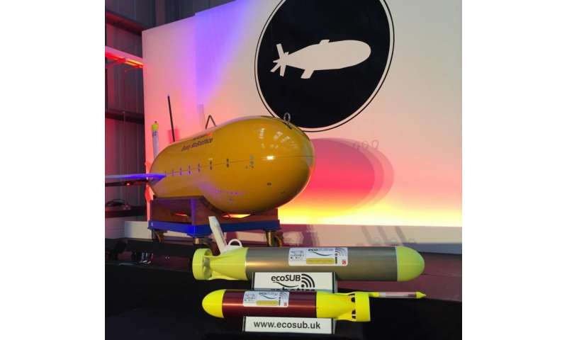 New mini robot sub unveiled at the National Oceanography Centre