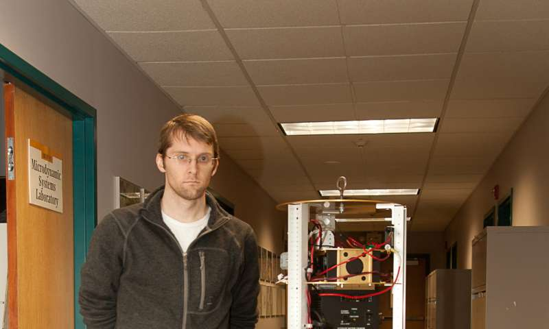 Omnidirectional mobile robot has just 2 moving parts