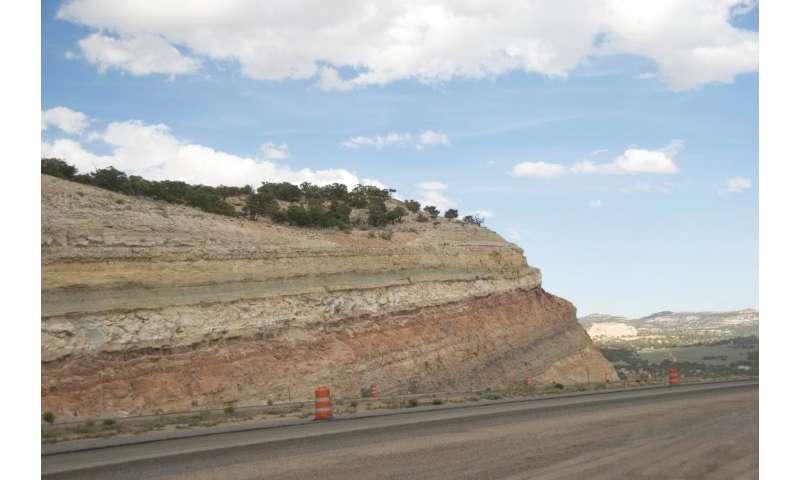 Outcrop of Carmel Formation in Utah's San Rafael Swell, USA