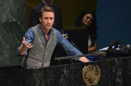 Philippe Cousteau, Jr. speaks at United Nations General Assembly Hall on March 20, 2015 in New York City