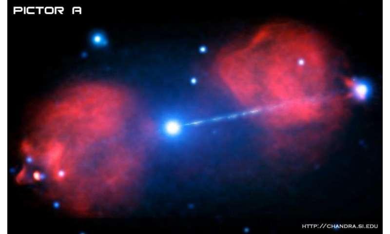 Pictor A: Иlast from black hole in a galaxy far, far away