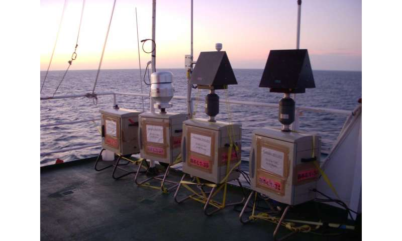 Pollution resulting from burning fossil fuels reaches the open ocean via the atmosphere