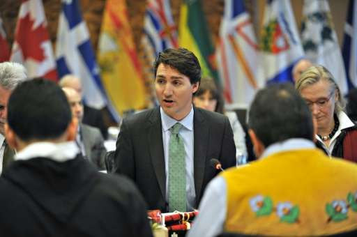 Prime Minister Justin Trudeau opens the First Ministers Meeting in Vancouver on March 2, 2016