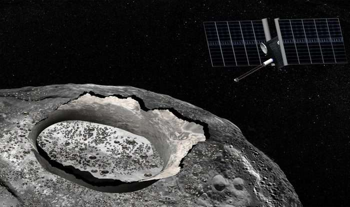 Pure metal asteroid has mysterious water deposits