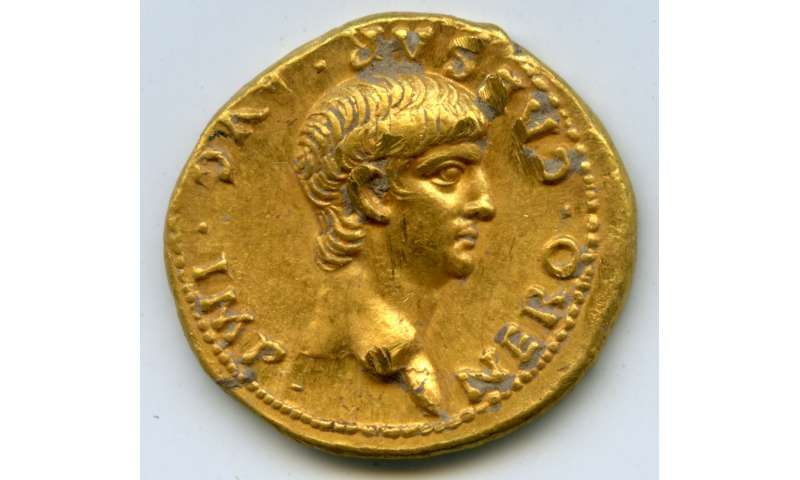 Rare Roman gold coin found in Jerusalem at Mt  Zion archaeological dig