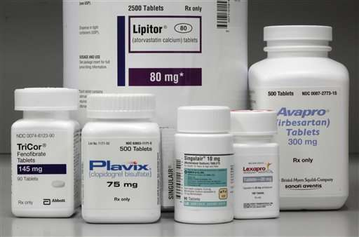 Report: US medicine spending up 8.5 percent 2015