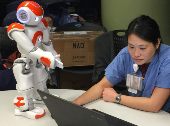 Robot helps nurses schedule tasks on labor floor