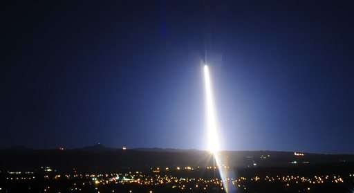 Rocket with defense payload launches from California