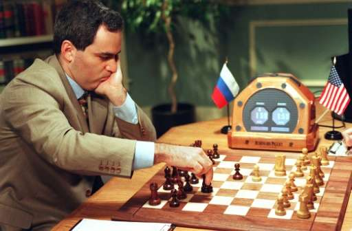 Russian chess grandmaster Garry Kasparov was defeated by IBM's Deep Blue supercomputer in 1997