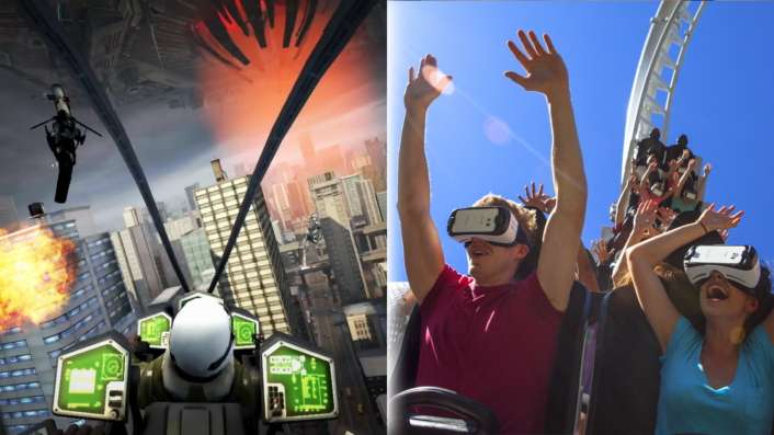 Samsung VR on roller coasters in nine thrill-vending parks