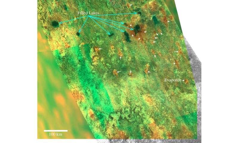 Scientists determine the structure of Titan's evaporites
