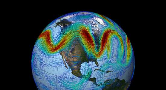 Scientists simulate the climate warming forces driving the jet stream's sometimes erratic path