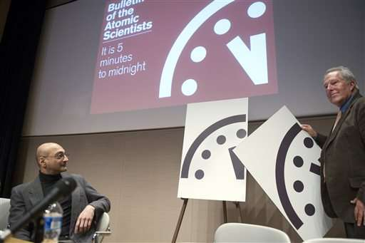"Scientists to announce ""Doomsday Clock"" time"