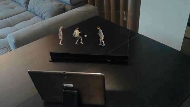 Screens change video characters into holograms in your home