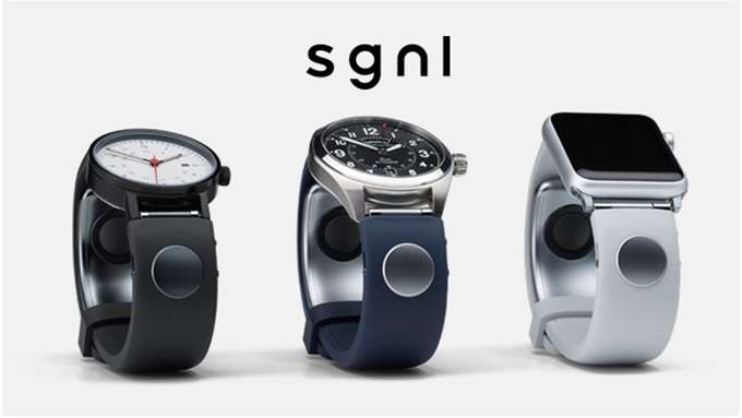 Sgnl wrist strap allows you to communicate in calls via fingertip