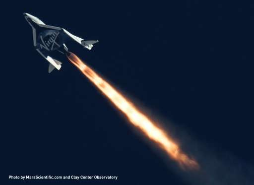 SpaceShipTwo is a commercial version of SpaceShipOne, the first private spacecraft to reach the edge of space in 2004