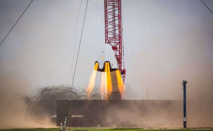 SpaceX Crew Dragon conducts propulsive hover and parachute drop tests
