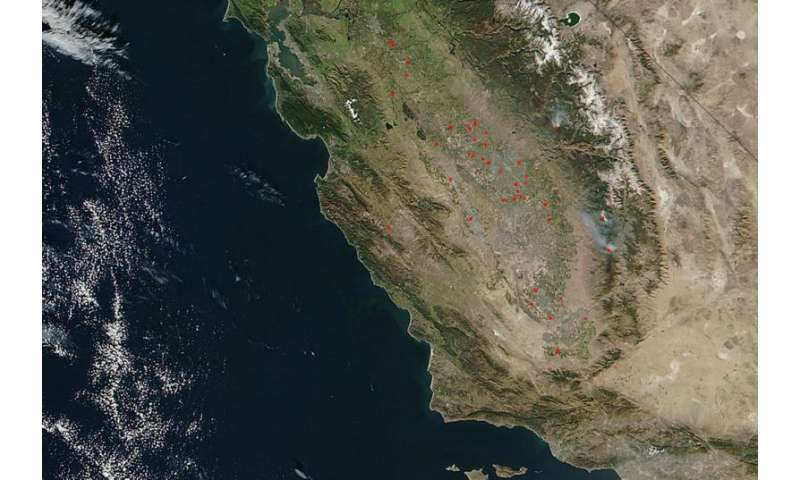 Spate of fires across California's Central Valley