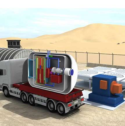 Supercritical CO2-cooled micro modular reactor