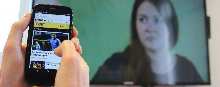 Television viewers shun mobile devices when watching favourite shows
