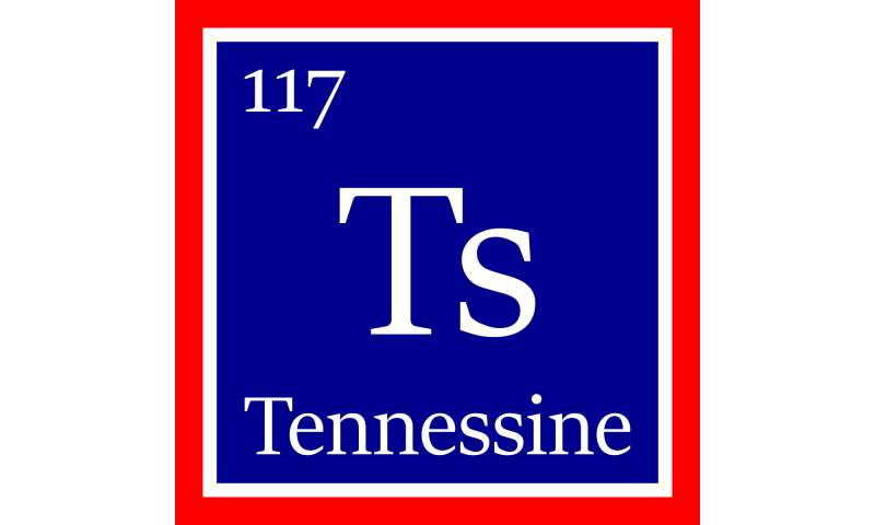 'Tennessine' acknowledges state institutions' roles in element's discovery