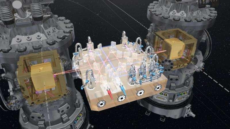 Test cubes floating freely inside LISA Pathfinder