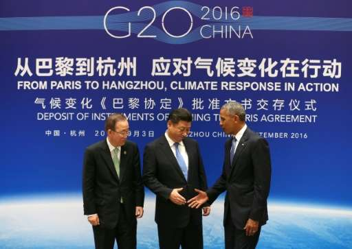 The agreement received a major boost earlier this month when China and the United States, the two largest emitters, jointly acce