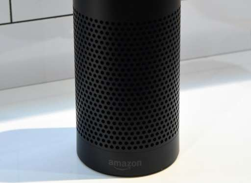 The Amazon Echo is displayed on January 7, 2016 in Las Vegas, Nevada