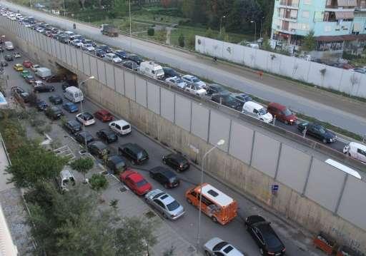 The average age of vehicles on Tirana's roads is around 16 years, twice the European average