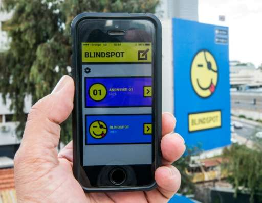 The Blindspot app allows users to send anonymous messages, photos and videos to their contacts without the receiver being able t