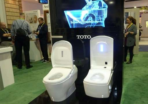 Attirant The Demo Toto Toilet Is Seen On January 8, 2016 At The Consumer Electronics  Show