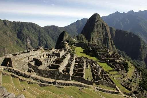 The Inca citadel of Machu Picchu in the Peruvian department of Cusco
