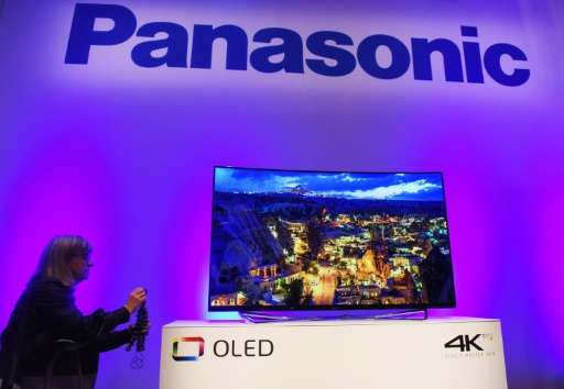 The Panasonic OLED 4K Pro television at the CES 2016 Consumer Electronics Show on January 5, 2016 in Las Vegas