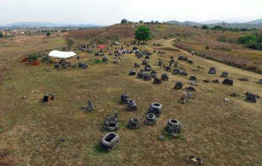 The Plain of Jars, in Laos' central Xieng Khouang province, is scattered with thousands of stone vessels but scientists have yet
