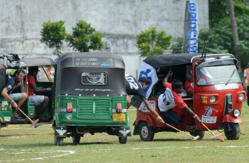 There were remarkably few dinged fenders after tuk-tuks replaced elephants at a Sri Lanka polo tournament