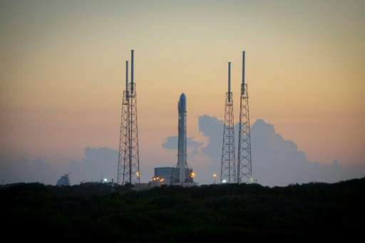 The SpaceX Falcon 9 rocket is seen on December 16, 2015