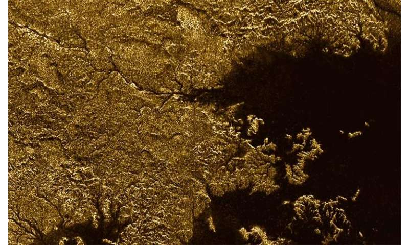 Titan features steep, liquid-filled canyons