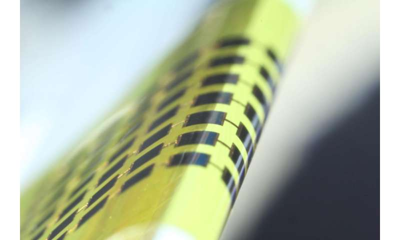 Ultra-thin solar cells can easily bend around a pencil