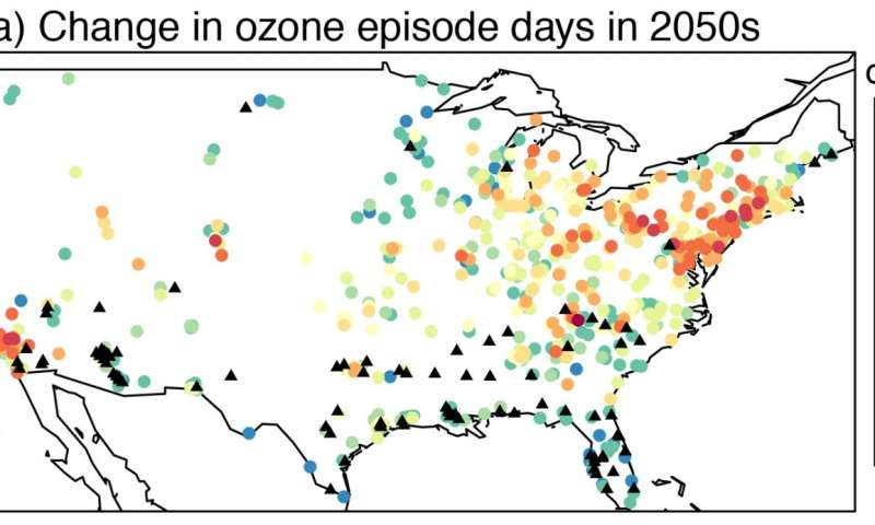 Unhealthy ozone days could increase by more than a week in coming decades