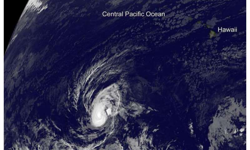 Unusual Tropical Storm Pali still thriving far from Hawaii