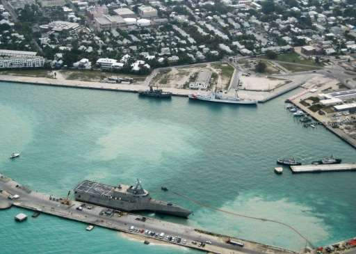 USS Independence arrives at Mole Pier at Naval Air Station Key West in Key West, Florida in 2010