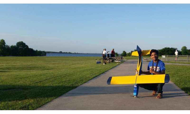 UTA aerospace engineering graduate first to flight test UAV with mass-actuated controls